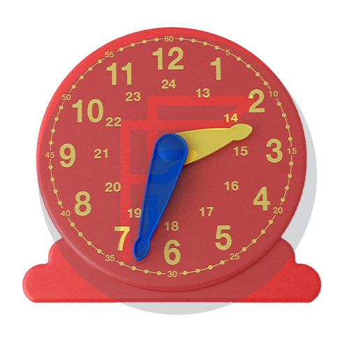 Teacher 24 hour clock used to teach children to tell the time
