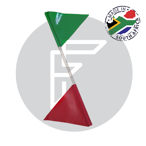 Athletics Flags Green & Red