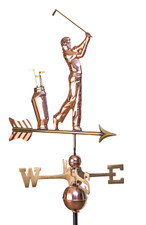 Golfer with Bag Weathervane
