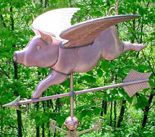 Jumbo Flying Pig Weathervane