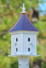 "12""W x 28""H - Square Dovecote Birdhouse with Perches"