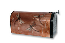 Rural Dragonfly Copper Mailbox