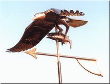 Osprey with Fish Weathervane