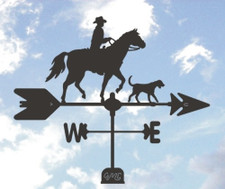 Cowboy and Dog Weathervane