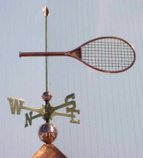 Tennis Racket Weathervane