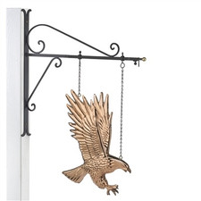 Bald Eagle Copper Weathervane Sign with Bracket