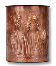Wheat Copper Waste Basket