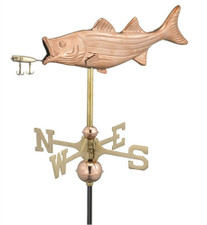 Small Bass with Lure Weathervane