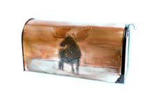 Rural Moose in Lake Copper Mailbox