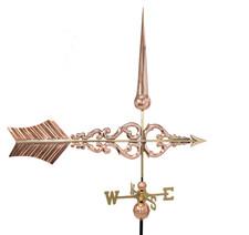 Large Deluxe Scroll Arrow Weathervane