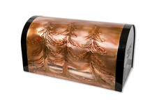 Rural Pine Trees Copper Mailbox