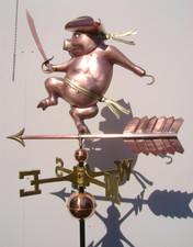 Pirate Pig Weathervane