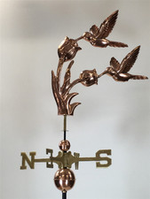 Double Hummingbird Weathervane