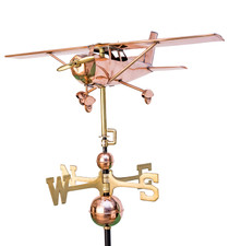 High Wing Plane Weathervane