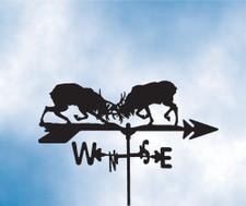 Elk Fight Weathervane