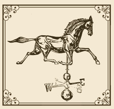 Large 3D Horse Weathervane