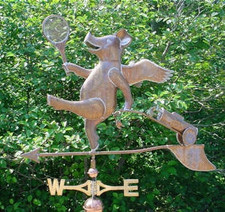 Country Club Pig Weathervane