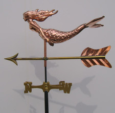 Small 3D Mermaid Weathervane