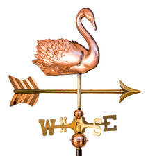 Small 3-D Swan Weathervane