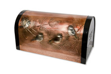 Rural Classic Chickadee and Pine Copper Mailbox