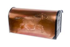 Rural Graceful Runner Copper Mailbox