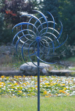 BLUE WINDSWEPT KINETIC WIND SPINNER
