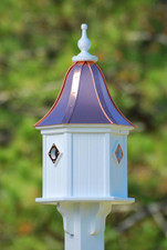 "12""W x 28""H - Hexagon Dovecote Birdhouse"