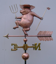 Farmer Pig Weathervane