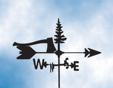 Axe and Tree Weathervane