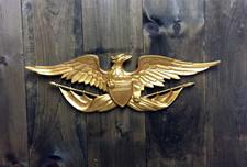 Aluminum Wall Eagle - Gold