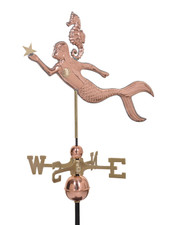 Mermaid and Seahorse Weathervane
