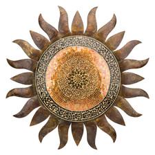 """GOLD SUN WALL DECOR 36"""""""
