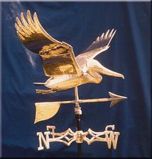 Soaring Pelican Weathervane 1