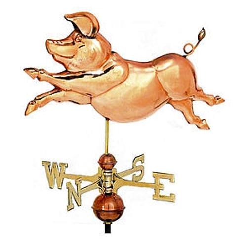 Whimsical Pig Weathervane