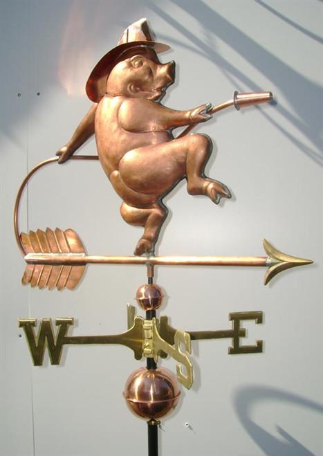 Fireman Pig Weathervane