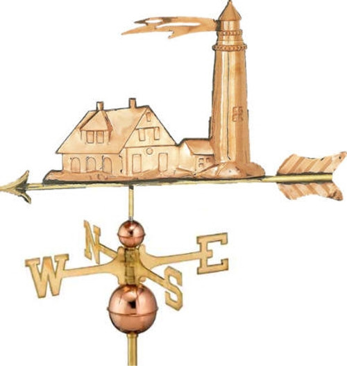 Vintage Lighthouse Weathervane