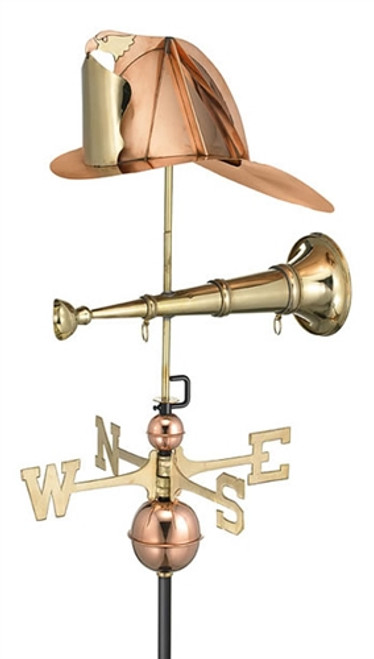 Fireman Hat and Horn Weathervane