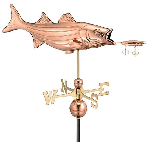 Striped Bass with Lure Weathervane