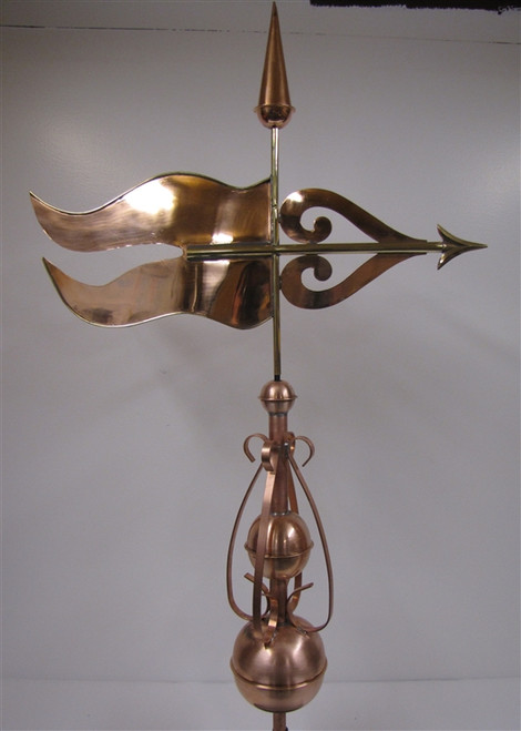 Newton Banner Finial Weathervane