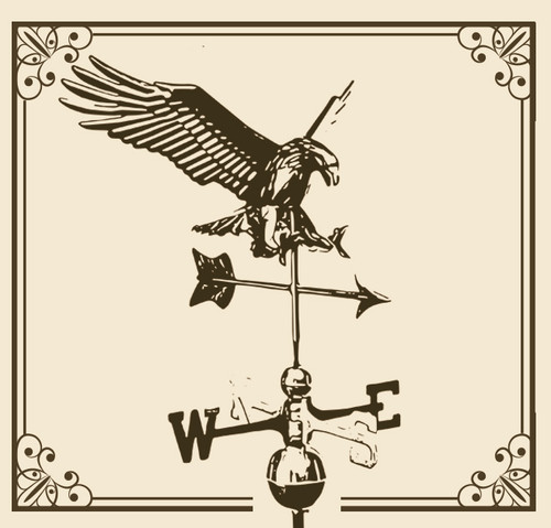 """Diving Eagle with 23"""" Arrow Weathervane"""