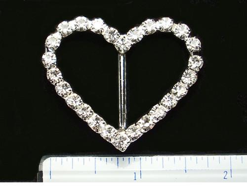 Heart * Irish Dance Crystal Shoe Buckles