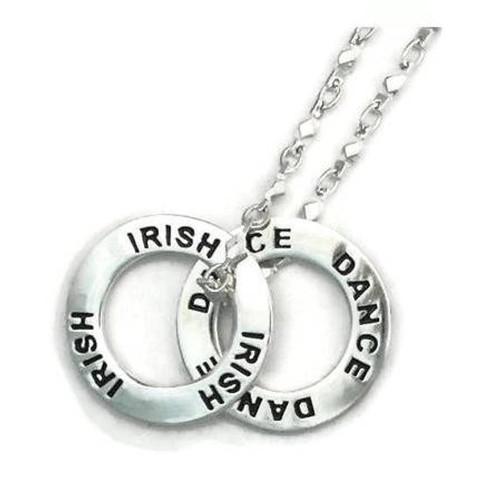 IRISH DANCE Message Ring Necklace
