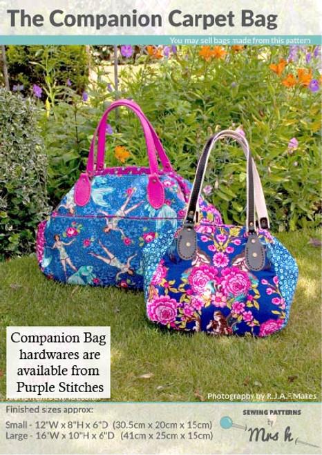 Companion Carpet Bag Pattern | Mrs H Sewing Patterns | Purple Stitches