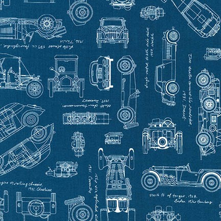 Vintage Blueprints|Savannah Lockie|Robert Kaufman|100% cotton fabric ...