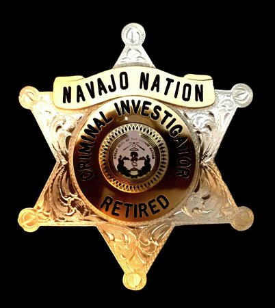 Engraved Police Badge Navajo Nation