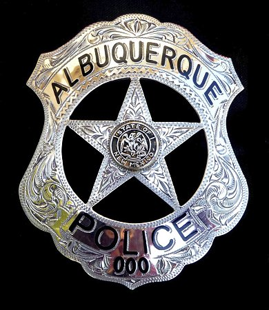 Engraved Police Badge Albuquerque