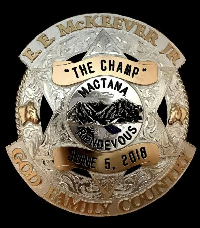 Engraved Police Badge Mactana