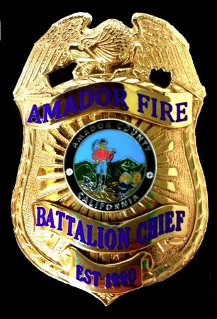 Firefighter Badge Amador Battalion Chief