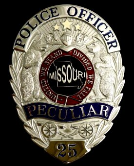 Oval Police Badge