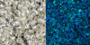 Toho Seed Bead 11/0 Round #415 Silver Lined Crystal Glow Blue 50 gram